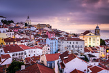 Lisbon, Portugal Skyline at Alfama, the Oldest District of the City Photographic Print by Sean Pavone