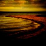 Abstract, Sea, Beach, Shore, Ocean, Sand, Horizon Photographic Print by Tim Kahane