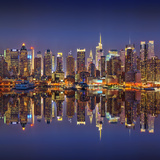 Manhattan at Night Photographic Print by Sergey Borisov