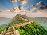 Great Wall of China at the Jinshanling Section Fotoprint van Sean Pavone
