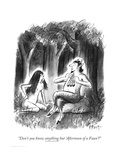 """""""Don't you know anything but 'Afternoon of a Faun'?"""" - New Yorker Cartoon Regular Giclee Print by Barney Tobey"""