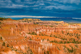 Sunset Point View, Bryce Canyon National Park, Utah, Wasatch Limestone Pinnacles and Sunset Clouds Photographic Print by Tom Till