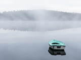Rowboat on a Smooth, Misty Lake Photographic Print by Mikael Svensson
