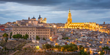 Toledo, Spain Town Skyline at Dusk at the Cathedral Photographic Print by Sean Pavone