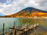 Lake Chuzenji and Mt. Nantai at Nikko National Park in Tochigi, Jpan Photographic Print by Sean Pavone