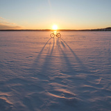 Bicycle in Snow Photographic Print by  Wisslaren