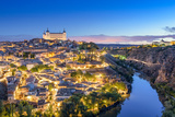 Toledo, Spain Town Skyline on the Tagus River at Dawn Photographic Print by Sean Pavone
