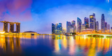 Singapore Skyline at the Bay Photographic Print by Sean Pavone