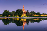 Mandalay, Myanmar at the Palace Wall and Moat Photographic Print by Sean Pavone