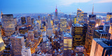 Panorama of New York City in Midtown Manhattan. Low Color Saturation Photographic Print by Sean Pavone