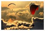 Paragliding 2 Print by Yavuz Sariyildiz