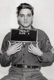 Elvis Presley- 1958 Enlistment Photo Fotografie