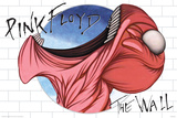 Pink Floyd- The Wall Mouth Affiches