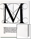 M, Illustration from 'Divina Proportione' by Luca Pacioli (C.1445-1517), Originally Pub. Venice, Prints by  Leonardo da Vinci