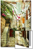 Courtyard Of Old Croatia - Picture In Painting Style Posters by  Maugli-l