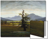 Solitary Tree (Village Landscape in Morning Light), 1822 Prints by Caspar David Friedrich