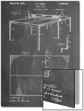 Ping Pong Table Patent Print