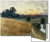 An Extensive Landscape at Sunset, 1902 Posters by Johan Ericson
