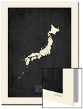 Black Map Japan Prints by Rebecca Peragine