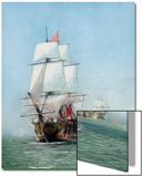 Vintage Print of Hms Victory of the Royal Navy Art by  Stocktrek Images