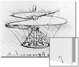 Detail of a Design For a Flying Machine, c.1488 Prints by  Leonardo da Vinci