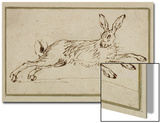A Hare Running, with Ears Pricked (Pen and Ink on Paper) Posters by James Seymour