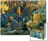 Decor for Debussy's Ballet L'Apres-Midi D'Un Faune (The Afternoon of a Fau), 1912 Prints by Leon Bakst
