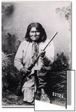 Geronimo Holding a Rifle, 1884 Print
