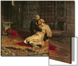 Ivan the Terrible and His Son on the 16th November, 1581, 1885 Art by Ilya Efimovich Repin