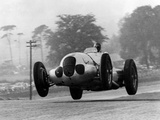 Manfred Von Brauchitsch Becomes Second in the Donington Grand Prix 1937 Print by  Scherl