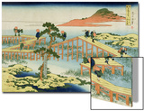 Eight Part Bridge, Province of Mucawa, Japan, circa 1830 Prints by Katsushika Hokusai