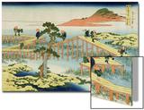 Eight Part Bridge, Province of Mucawa, Japan, circa 1830 Posters by Katsushika Hokusai