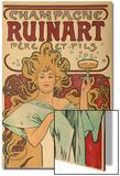 "Werbeplakat Fuer ""Champagne Ruinart"" Paris, 1897 Posters by Alphonse Mucha"