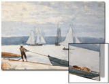 Pulling the Dory Posters by Winslow Homer
