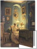 Evening at Home Prints by Edward John Poynter