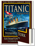 Titanic White Star Line Travel Poster 2 Prints by Jack Dow