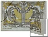 Conversazione Programme, Designed for the Glasgow Architectural Association, 1894 Kunstdrucke von Charles Rennie Mackintosh