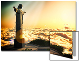 Famous Statue Of The Christ The Reedemer, In Rio De Janeiro, Brazil Prints by  Satori1312