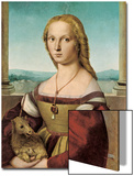 Portrait of a Young Lady with a Unicorn, 1505-1506 Affiches par  Raphael