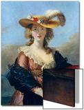 Self Portrait in a Straw Hat, C1782 Poster von Elisabeth Louise Vigee-LeBrun