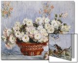 Chrysanthemums Poster by Claude Monet