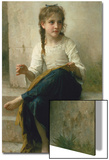 Little Girl Sewing, 1898 Affiches par William Adolphe Bouguereau