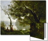 Memory of Mortefontaine, France, 1864 Affiche par Jean-Baptiste-Camille Corot