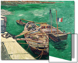 Landing Stage with Boats, c.1888 Prints by Vincent van Gogh