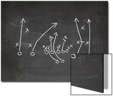Football Play Strategy Drawn Out On A Chalk Board Poster by  Phase4Photography
