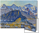 Eiger, Moench and Jungfrau in the Sun Poster by Ferdinand Hodler