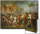 The Sabine Women, 1799 Art by Jacques-Louis David