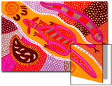 Aboriginal Painting Print by John Newcomb