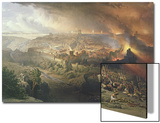 The Destruction of Jerusalem in 70 AD Print by David Roberts