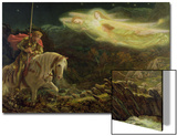 Sir Galahad - the Quest of the Holy Grail, 1870 Art by Arthur Hughes